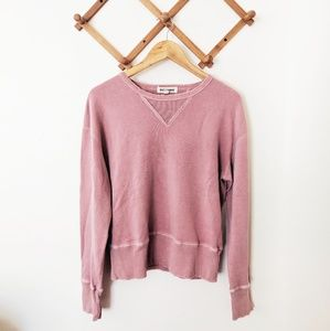Madewell / Rivet + Thread Pink Crewneck Sweater
